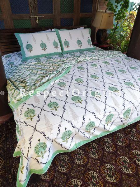 Gardenia Luxury Rich Cotton- filled Reversible King Doher or Blacket Bed Set; Blanket: 110 x 90 In; Sheet: 110 x 90 In; Shams: 30 x 20 In; RespectOrigins.com