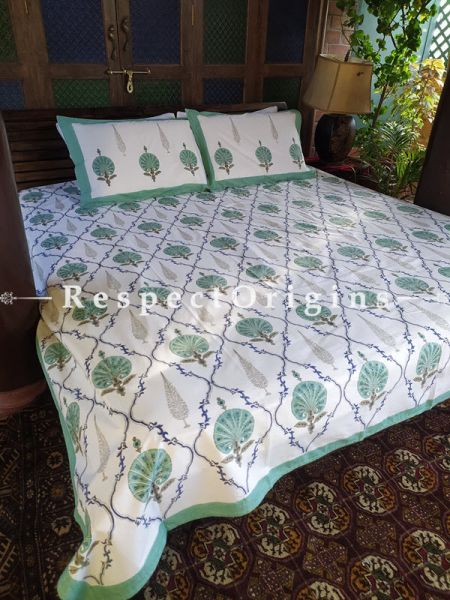 Gardenia Luxury Rich Cotton- filled Reversible King Doher or Blacket Bed Set; Blanket: 110 x 90 In; Sheet: 110 x 90 In; Shams: 30 x 20 In; RespectOrigins.com