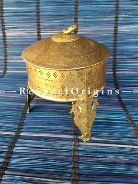 Buy Brass Fresh mints or Mukhwas Collectible Box With Stand; Handcrafted ornate Work At RespectOrigins.com