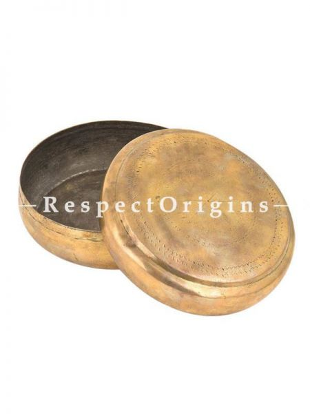 Buy Round Brass Roti box, Collectibles, Keepsake Box At RespectOrigins.com