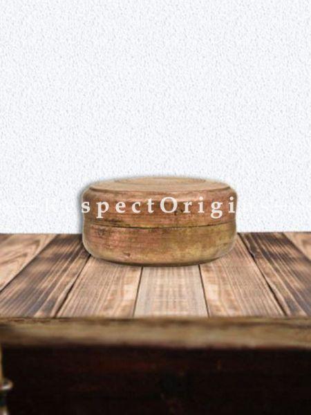 Buy Round Hand Crafted Roti Box, Collectibles, Keepsake Box At RespectOrigins.com