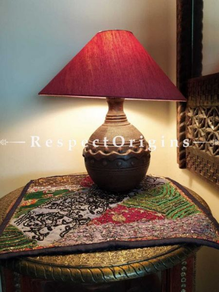 Buy Round Terracotta Table Lamp At RespectOrigins.com