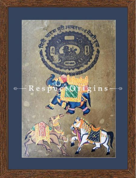 Royal Transport; Set of 4; Miniature Painting; Vertical; Traditional Rajasthani Wall Art