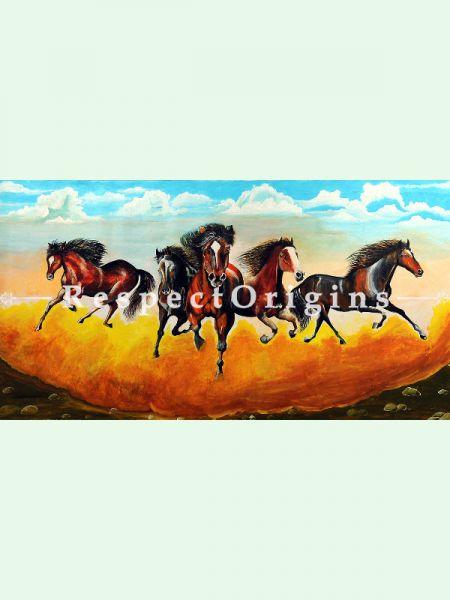 Original art|Fine Art|Running Horses Painting RespectOrigins
