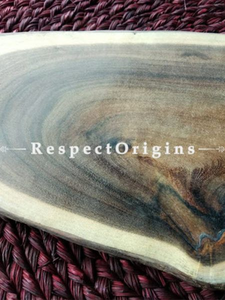 Rustic Oval Shaped Wooden Cheese Board, Serving Board or Platter, Handcrafted; RespectOrigins
