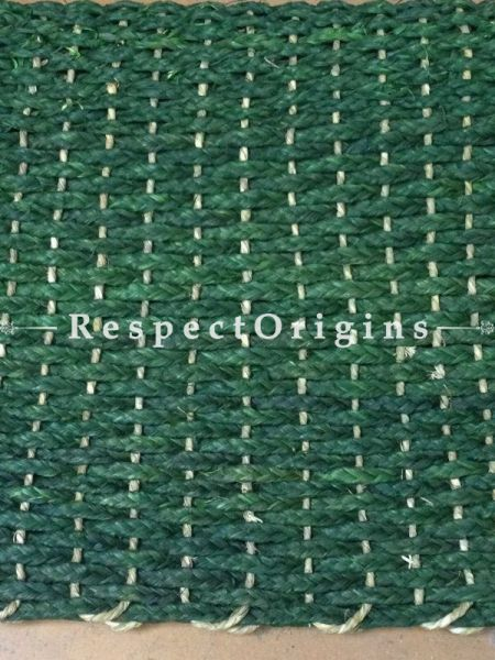 Green Handmade Eco-friendly Sabai Grass Floor Mat; W18xL24 Inches; RespectOrigins.com