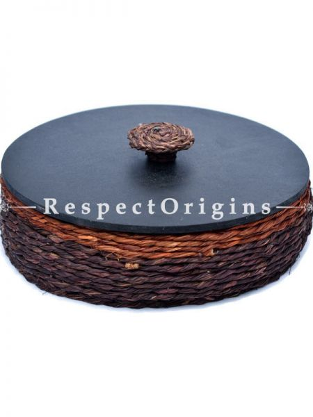 Hand Made Eco Friendly Sabai Grass Roti Box; 9 x 3; RespectOrigins.com