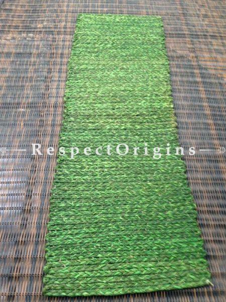 Green Handmade Natural Fibre Sabai Grass Table Runner; W13xL38 Inches; RespectOrigins.com