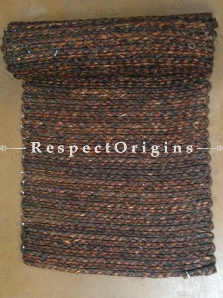 Brown Handmade Natural Fibre Sabai Grass Table Runner; W13xL37 Inches; RespectOrigins.com