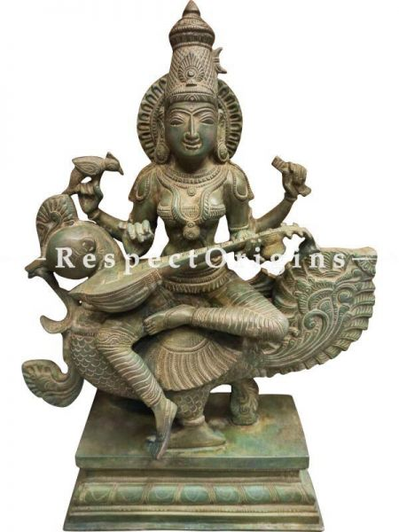 Buy Authentic Bronze Saraswati Idol At RespectOrigins.com