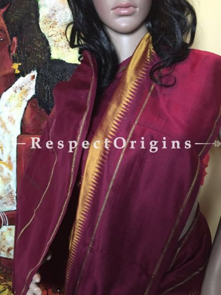 Kanjeevaram Yellow Silk Saree, RespectOrigins.com