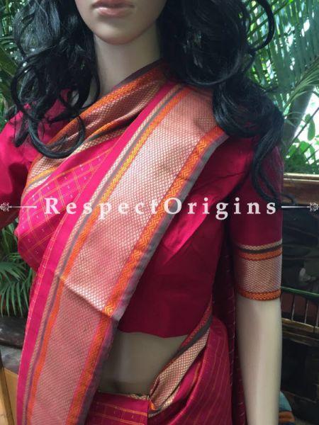 Kanjeevaram Pink Silk Saree, RespectOrigins.com