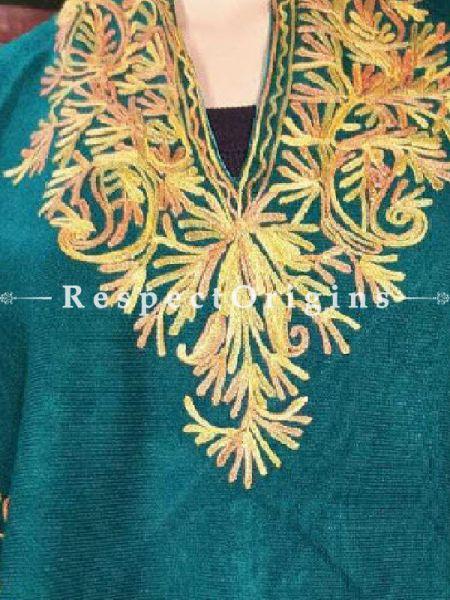 Sea Green with Aari Embroidered Paisley motifs; RespectOrigins.com