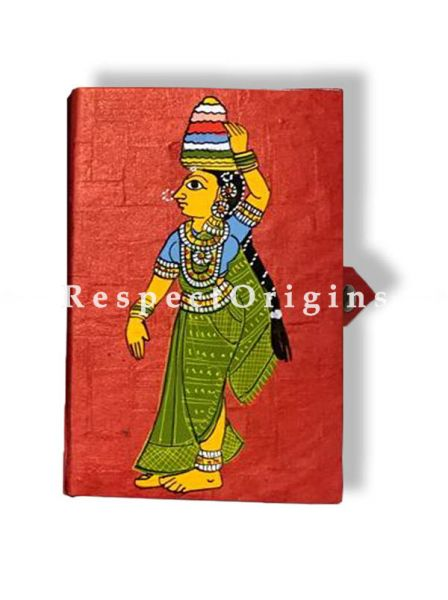 Gorgeous and colourful Cheriyal Tribal art Jewellery or Collectible Boxes, Set of 2, RespectOrigins.com