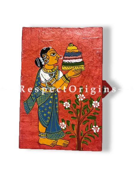 interesting and colourful Jewellery or Collectible Boxes with Cheriyal Painting Pair, RespectOrigins.com