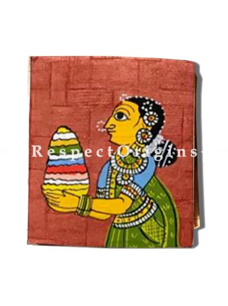 Fanciful and colourful Cheriyal Painting Jewellery or Collectible Boxes pair, RespectOrigins.com