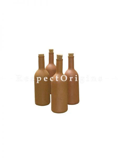 Buy Set of 4 Earthen Bottle, earthen Ware, Terracotta At RespectOrigins.com