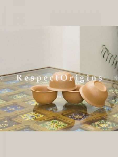 Buy Set of 4 Earthen ware Terracotta Bowl(150 ml) At RespectOrigins.com