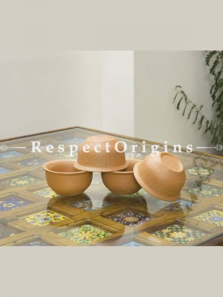 Buy Set of 6 Bowls(300 ml), Earthenware Terracotta At RespectOrigins.com