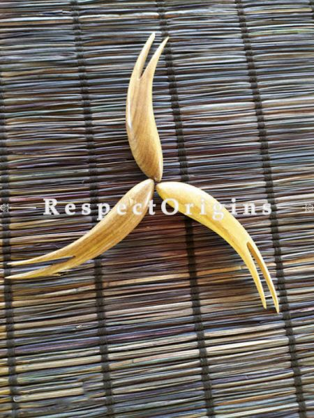Buy Set of 6 Fruit Fork at Great Price; Wooden, RespectOrigins.