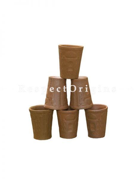 Buy Set of 6 Terracotta Glasses, Ethnic Drink Ware At RespectOrigins.com
