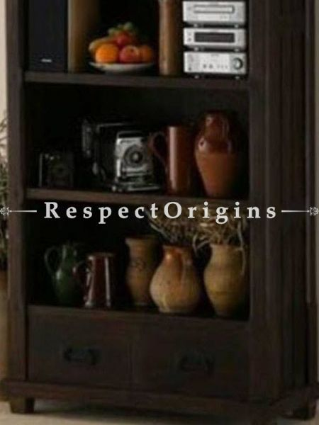 Buy Rustic Dark Solid Wood Book Case Cabinet At RespectOrigins.com