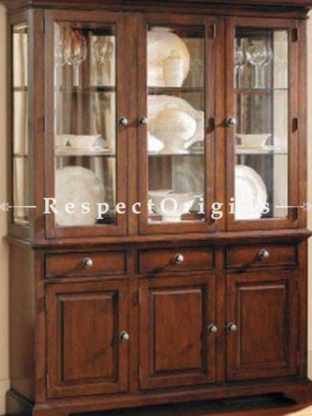 Buy Christoph China Cabinet Solid Wood; 3 Door Glass. At RespectOrigins.com