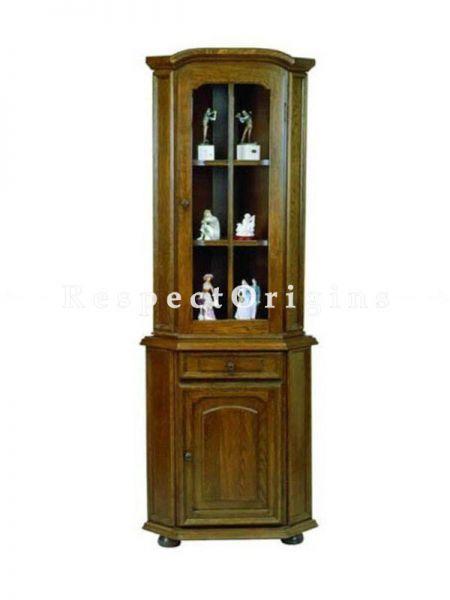 Buy Sheesham Wood Vintage China - Curio Cabinet At RespectOrigins.com