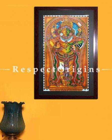 Shiva & Parvati; Kerala Mural Art; Ardhanarishvara; 18x29 in