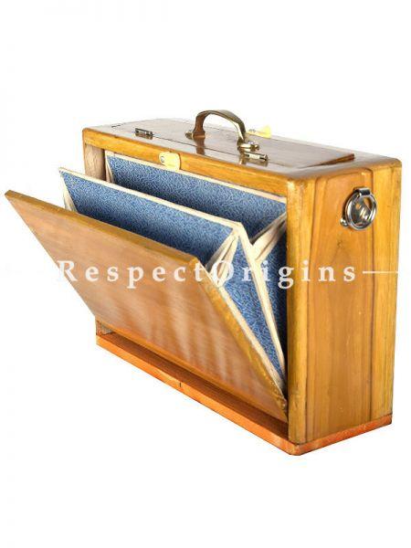Shruti Box Manual, Scale 1, 1 1/2, 2; Brown; Indian Musical Instrument; RespectOrigins.com