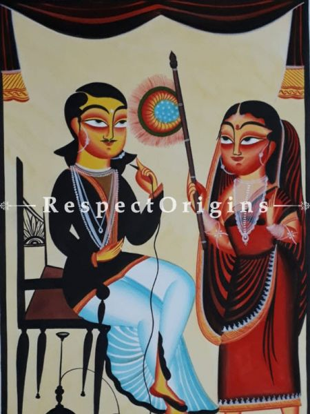 Buy Kalighat Painting of Siesta Time In 22x15 Size |RespectOrigins