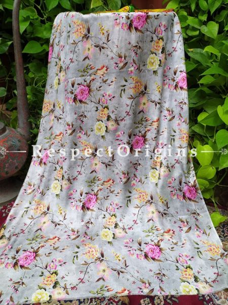 Fine Beige Luxury Formal Silken Stoles for Work Wear or Evening Wear;Length 80 x 30 Width Inches.; RespectOrigins.com