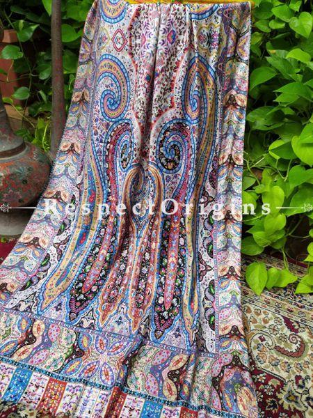 Fine Luxury Formal Silken Multi-Color Stoles for Work Wear or Evening Wear;Length 80 x 30 Width Inches.; RespectOrigins.com