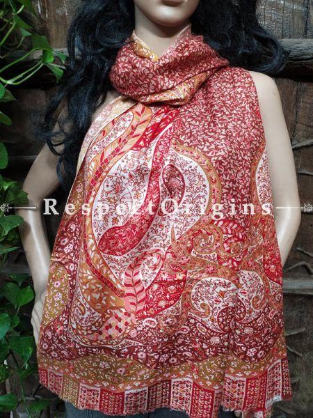Fine Brown Luxury Formal Silken Stoles for Work Wear or Evening Wear;Length 80 x 30 Width Inches.; RespectOrigins.com