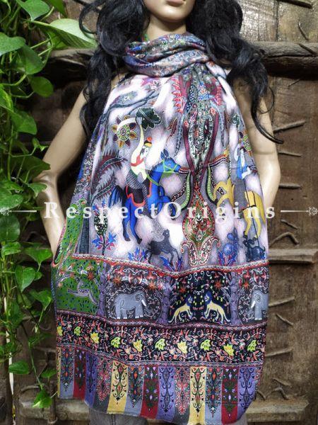 Fine Luxury Formal Designer Silken Stoles for Work Wear or Evening Wear;Length 80 x 30 Width Inches.; RespectOrigins.com