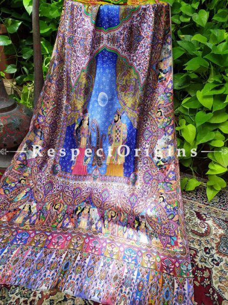 Mughal Designer Fine Luxury Formal Silken Stoles for Work Wear or Evening Wear;Length 80 x 30 Width Inches.; RespectOrigins.com