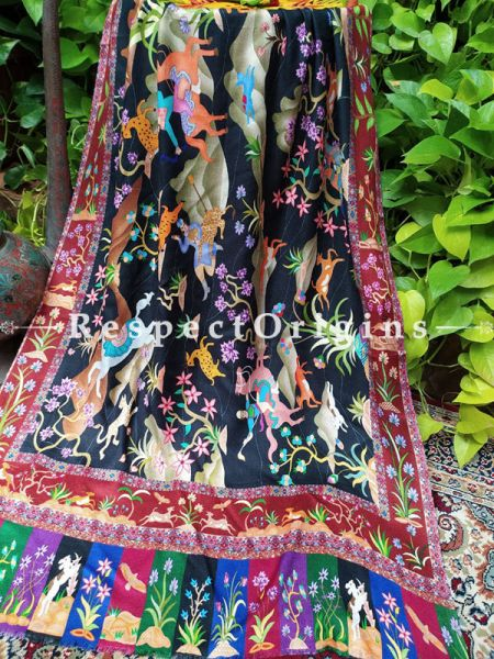 Fine Luxury Designer Formal Silken Stoles for Work Wear or Evening Wear;Length 80 x 30 Width Inches.; RespectOrigins.com