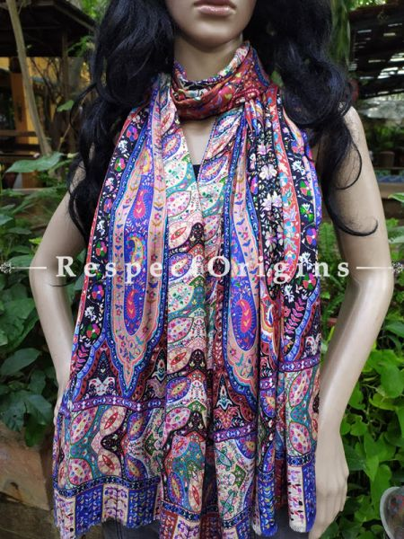 Fine Designer Luxury Formal Silken Stoles for Work Wear or Evening Wear;Length 80 x 30 Width Inches.; RespectOrigins.com