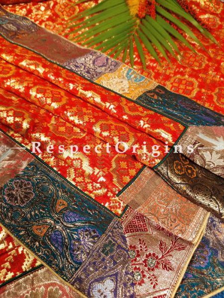 Buy Bridal Style Vintage Benarasi Kinkhab Duppata Silk Shawl with Vintage Benarasi Border  at RespectOrigins.com