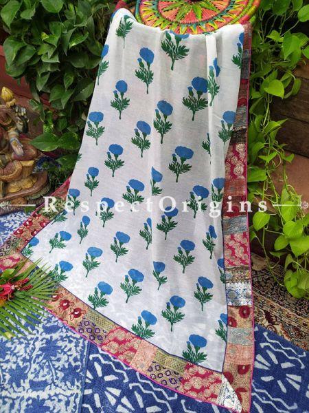 Buy Unique Duppata with Kalamkari Print with Silk Contrast Border;At RespectOrigins