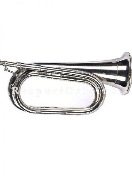 Bugle: Silver; Indian Musical Instrument; RespectOrigins.com