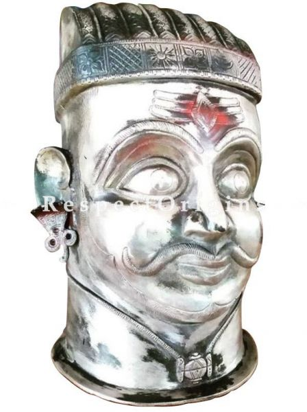 Buy Silver Bust of Shiva with Third Eye At RespectOrigins.com