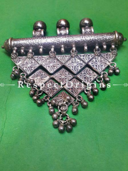 Traditional Kashmiri Silver Pendant With Bells, RespectOrigins.com