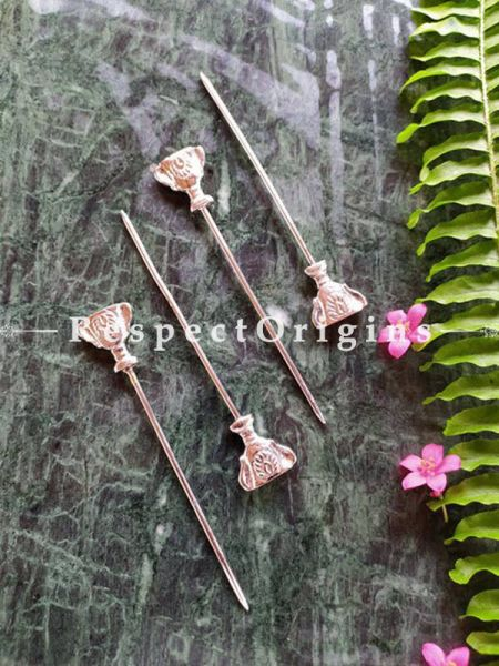 Buy Pack of 4 Stainless Steel Skewers, Cocktail Sticks Party Frilled Toothpicks, Sandwich, Appetizer, Cocktail Picks At RespectOrigins.com