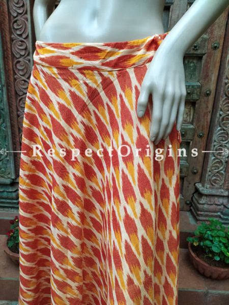 Multi-Color Block-printed Cotton Palazzo Free Size Elasticated Drawstring Pants for Women; Length 40 Inches; RespectOrigins.com