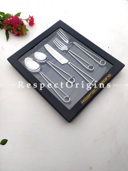 Hang-me-up! Trendy 5 piece Set of Designer Flatware; 9 Inches; RespectOrigins.com