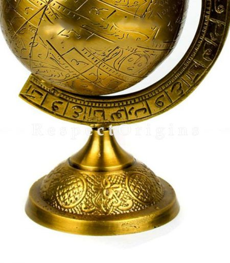 Buy Decorative Hanging & Standing Solid Antique Brushed Brass Armillary Sphere At RespectOrigins.com