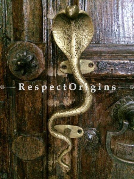 Buy Brass Snake Cobra Door Handle; Antique Finish Indian Decor; 9 in; Handcrafted Door Accessories At RespectOrigins.com