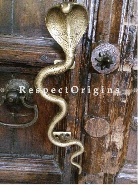 Buy Brass Snake Cobra Door Handle; Antique Finish Indian Decor; 12 in; Handcrafted Door Accessories At RespectOrigins.com