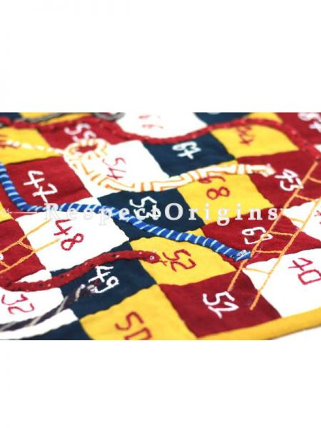 Buy Snakes And Ladders Handmadewith Patchwork On Naturally Dyed Cotton at RespectOrigins.com